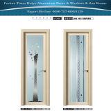 Алюминиевая дверь Casement двери туалета двери ванной комнаты нутряной двери