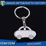 De Sleutelring van de Giften van de Bevordering van de Manier van Keychain van de Douane van de Vorm van de Auto van het metaal