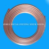 tubo de cobre destemplado suave inconsútil de la bobina de la crepe de 9.52X0.91m m