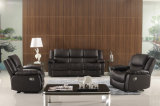 居間の本革のソファー(C876)