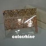 Rectángulo de regalo plástico de oro del embalaje de la impresión de la pantalla