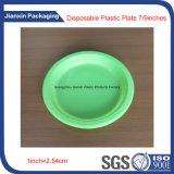 Bunter Wegwerfplastik richtet das Platten-Verpacken an