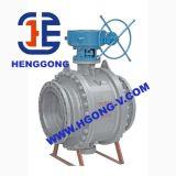 Valvola a sfera d'acciaio forgiata ad alta pressione della flangia del volante di API/DIN
