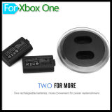 Dual ricaricabile 2800mAh Imitation Battery Charging Station Dock con il USB Cable Kit di Recharger per xBox Un Wireless Controller Gamepad