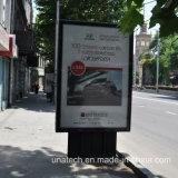 Рекламировать коробку алюминиевой афиши напольную СИД Mupi Scrolling светлую