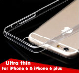 Van nieuwe Producten het In het groot Mobiele Bijkomende Uiterst dunne 0.3mm Geval TPU van Telefoon voor iPhone 6 6s het Mobiele Geval van de Dekking
