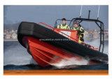 Bote de salvamento enchido Non-Air do pára-choque da espuma da patrulha Boat/EVA Soliad do reforço da câmara de ar de Aqualand 26feet 8m (rib800)