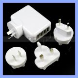 5V 2.1A EU/Us/UK/Au Plug 4 USB Port Travel Wall Charger für iPad iPhone Handy