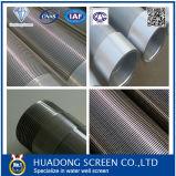 Filtro per pozzi dell'acqua dell'acciaio inossidabile 316 con la protezione di filetti per il pozzo di petrolio