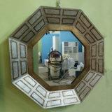 Marco decorativo del espejo del mosaico del polígono de la venta caliente (LH-423738)