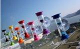 De plastic MiniTijdopnemer van de Klok van het Zand van de Douche met Zuignap