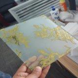 vidro reflexivo verde do vento do ouro 24k e outro fora de linha vermelho da arte para a decoração
