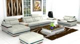 Alta calidad L sofá del cuero genuino de la dimensión de una variable para los muebles caseros (957)