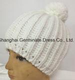 Горячий продавая шлем способа с вязать зимы Pompom (Hjb036)