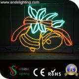 Lumières de motif de Pôle de décoration de vente de Noël DEL du motif chaud 2D DEL de rue