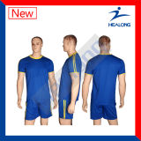 Uniforme seco rápido personalizado do futebol do Sublimation de Healong venda superior