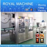 Double machine à étiquettes principale automatique de chemise de rétrécissement de bouteille et de chapeau
