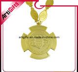 Медаль сброса высокого качества с ожерельем металла
