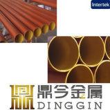 Qualitäts-China-Hersteller-rote Farben-runde Form En877 goß Graueisen-Rohr