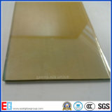 vidro revestido do vidro 24k reflexivo dourado (3mm-12mm)