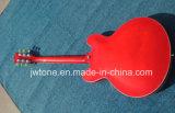 Guitare blanche du corps es 335 de cavité de marqueterie de bloc de perle fendue