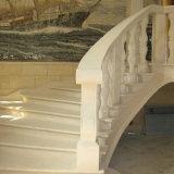 Piedra caliza gris blanca de oro natural del Mocha para el balaustre de las barandillas de las pisadas de escaleras