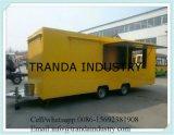 Auto van de Keuken van de Vrachtwagens van het Restaurant van rotators de Mobiele Antieke die in China wordt gemaakt