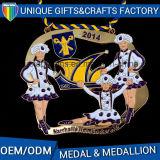Medaglione trasversale delle medaglie su ordinazione promozionali del metallo