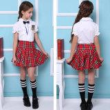 Camisa de la escuela primaria del uniforme escolar y uniforme uniformes de la falda para el verano