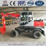 Pequeños excavadores 6.5ton de la rueda de Baoding con el compartimiento 0.2m3