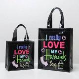 La manera de la promoción Shinny la bolsa de asas del compras del PVC