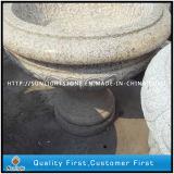 G682 Rusty Stone Granite Outdoor Flower Pot para paisagem de jardim
