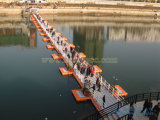 Puente de flotación de los diques flotantes de China