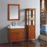 Étage moderne restant la vanité en bois de salle de bains