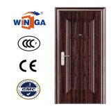 Puerta exterior del metal del color de la seguridad de acero de madera de Apparment (W-S-137)