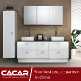 ミラノによって引き締められる白いピアノStovingのニスの浴室用キャビネット(CACA20-04)のメモリ