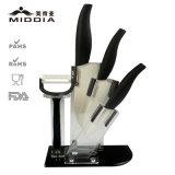 El cuchillo de cocina de cerámica 5PCS fijó para las herramientas de la cocina / el producto de la casa