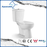 浴室のWashdowmのワンピースの戸棚の陶磁器の洗面所(AT0350)