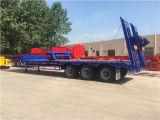 Semi-remorque inférieure de bâti de 3 essieux pour le transport de construction
