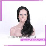 Candeggiare le parrucche piene della parte anteriore del merletto delle parrucche reali dei capelli umani del nodo