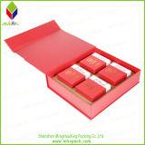 Red de alta calidad de embalaje rígido Caja Wth impresión de la insignia