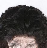 Peluca llena rizada brasileña del cordón del pelo humano de la manera