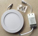 Lumière ronde de panneau de plafond de Ce/RoHS 6W 9W 12W 15W 18W DEL avec la garantie 2years