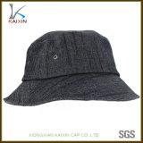 Sombrero negro llano de encargo del compartimiento del dril de algodón