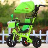 Triciclo giratorio del bebé del asiento del cochecito de la rueda del niño 3