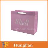 Sac de empaquetage blanc de papier d'emballage/sac à provisions/sac de cadeau avec le noeud de bande