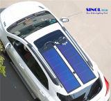 Panel solar de película 33W flexible de silicio amorfo fina para el sistema de RV (SN-PVLS5-33)