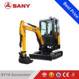 Sany SY16 1,6 Ton orugas Miniexcavadora para el jardín