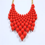 Nouveau design Red Acrylic Beads Fashion Jewellery Set Collier Bracelet Boucle d'oreille