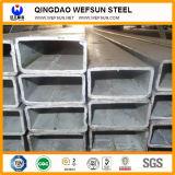 Tubo d'acciaio rettangolare galvanizzato tuffato caldo di Q235 Ss400 A36